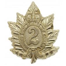 Canadian Queen's Own Rifles of Canada Cap Badge