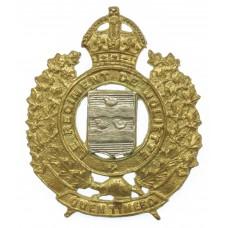 Canadian Le Regiment de Joliette Cap Badge - King's Crown