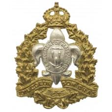 Canadian Le Regiment de Maisonneuve Cap Badge - King's Crown