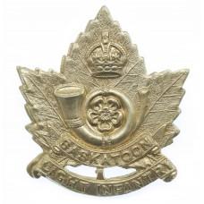 Canadian Saskatoon Light Infantry Cap Badge - King's Crown