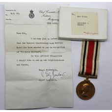 Elizabeth II Special Constabulary Long Service Medal in Box - Benjamin S. Thomas, Mid Wales Constabulary