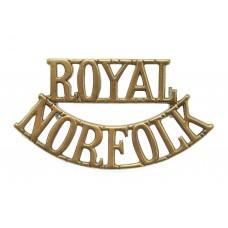Royal Norfolk Regiment (ROYAL/NORFOLK) Shoulder Title