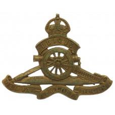 Canadian Field Artillery Cap Badge - King's Crown