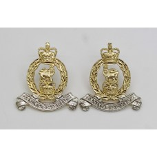 Pair of Adjutant Generals Corps (A.G.C.) Anodised (Staybrite) Collar Badges