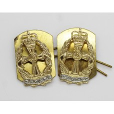 Pair of Queen Alexandra's Royal Army Nursing Corps (Q.A.R.A.N.C.) Anodised (Staybrite) Collar Badges