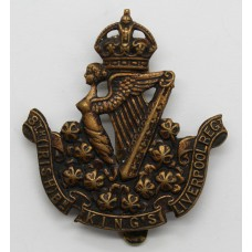 8th (Irish) Bn. King's Liverpool Regiment Cap Badge - King's Crow