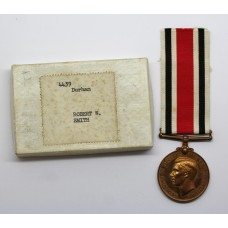 George VI Special Constabulary Long Service Medal in Box - Robert W. Smith, Durham Constabulary
