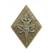 Canadian Women's Army Corps Cap Badge