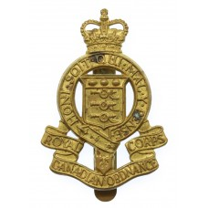 Royal Canadian Ordnance Corps Cap Badge - Queen's Crown