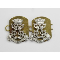 Pair of 13th Battalion London Regiment (Kensington) Anodised (Staybrite) Collar Badges