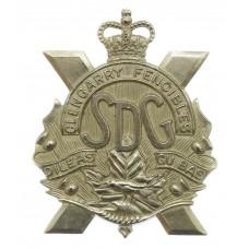 Canadian Stormont, Dundas & Glengarry Highlanders (Glengarry Fencibles) Cap Badge - Queen's Crown
