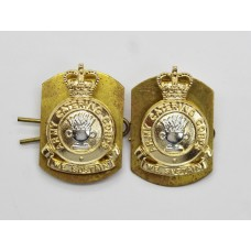 Pair of Army Catering Corps (A.C.C.) Anodised (Staybrite) Collar Badges