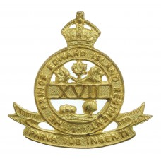 Canadian Prince Edward Island Regiment Cap Badge - King's Crown