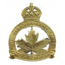 Royal Canadian Army Cadets Cap Badge - King's Crown