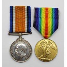 WW1 British War & Victory Medal Pair - Pte. S.E. Read, Queen's (Royal West Surrey) Regiment