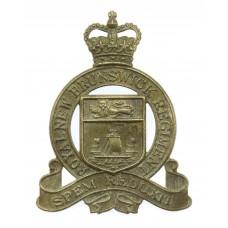 Canadian Royal New Brunswick Regiment Cap Badge - Queen's Crown