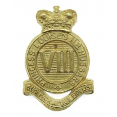 Canadian 8th Princess Louise's New Brunswick Hussars Cap Badge