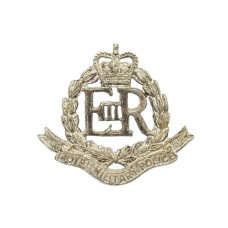 Royal Military Police Officer's Silvered Collar Badge - Queen's Crown