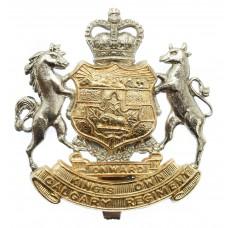 Canadian King's Own Calgary Regiment Cap Badge - Queen's Crown