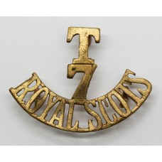 7th Territorial Bn. Royal Scots (T/7/ROYAL SCOTS) Shoulder Title