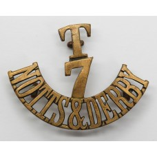 7th Territorial Bn. Sherwood Foresters (T/7/NOTTS & DERBY) Shoulder Title