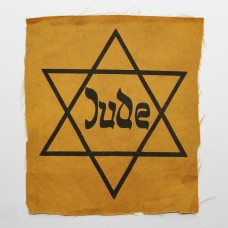 WW2 German Jewish Star of David (Jude) Cloth Badge