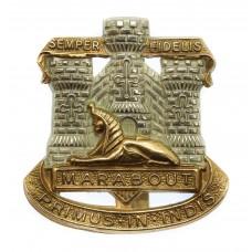 Devon & Dorset Regiment Bi-metal Cap Badge
