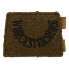 Worcestershire Regiment (WORCESTERSHIRE) WW2 Cloth Slip On Shoulder Title