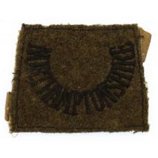 Northamptonshire Regiment (NORTHAMPTONSHIRE) WW2 Cloth Slip On Shoulder Title