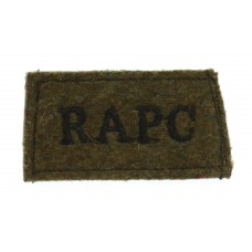 Royal Army Pay Corps (R.A.P.C.) WW2 Cloth Slip On Shoulder Title