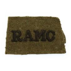 Royal Army Medical Corps (R.A.M.C.) WW2 Cloth Slip On Shoulder Title
