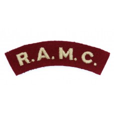 Royal Army Medical Corps (R.A.M.C.) Cloth Shoulder Title