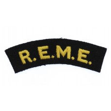 Royal Electrical & Mechanical Engineers (R.E.M.E.) Cloth Shoulder Title