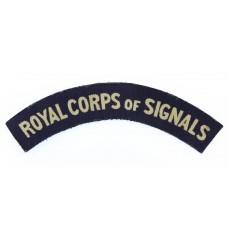 Royal Corps of Signals (ROYAL CORPS OF SIGNALS) WW2 Printed Shoulder Title