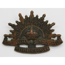 Australian Commonwealth Military Forces Slouch Hat Badge - King's