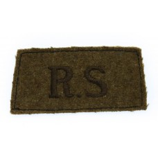 Royal Scots (R.S.) WW2 Cloth Slip On Shoulder Title