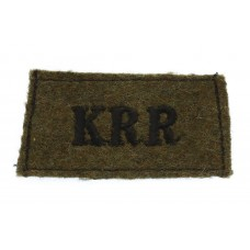 King's Royal Rifle Corps (K.R.R.) WW2 Cloth Slip On Shoulder Titl