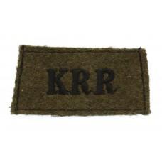 King's Royal Rifle Corps (K.R.R.) WW2 Cloth Slip On Shoulder Title