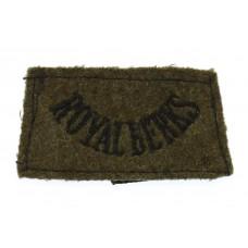 Royal Berkshire Regiment (ROYAL BERKS) WW2 Cloth Slip On Shoulder Title