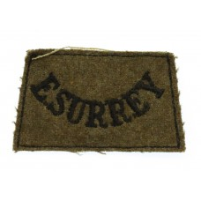 East Surrey Regiment (E.SURREY) WW2 Cloth Slip On Shoulder Title
