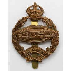 Scarce 1924 Royal Tank Corps Bandsman's Brass Beret Badge (Tank F