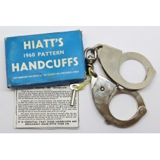 Hiatt's 1960 Pattern Police Handcuffs with Key in Original Box