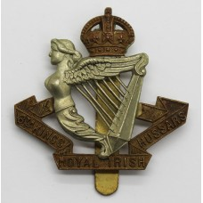 8th King's Royal Irish Hussars Cap Badge - King's Crown