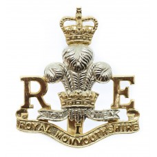 Royal Monmouthshire Royal Engineers Anodised (Staybrite) Cap Badge