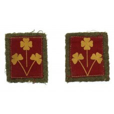 Pair of 8th Indian Division Printed Formation Signs