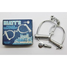 Hiatt's No. 115 Adjustable Police Handcuffs with Key in Original Box
