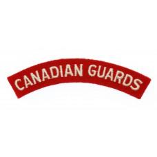 Canadian Guards (CANADIAN GUARDS) Cloth Shoulder Title