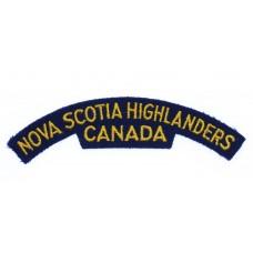 Canadian Nova Scotia Highlanders (NOVA SCOTIA HIGHLANDERS/CANADA) Cloth Shoulder Title
