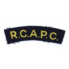 Royal Canadian Army Pay Corps (R.C.A.P.C.) Cloth Shoulder Title