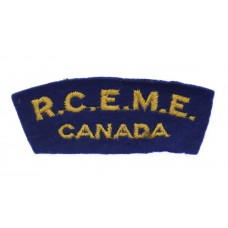 Royal Canadian Electrical Mechanical Engineers (R.C.E.M.E./CANADA) Cloth Shoulder Title